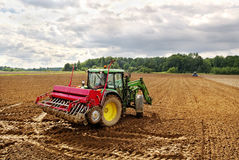 Sowing on the field. Stock Photo