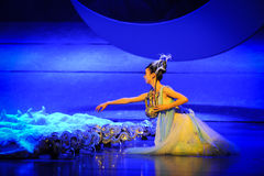 Sowing the seeds of hope-Hui ballet moon over Helan Stock Images