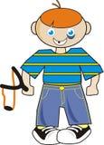 sowizdrzalski chłopiec slingshot Fotografia Royalty Free