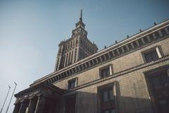 Sowjet Stalin-Palast der Kultur und der Wissenschaft lizenzfreies stockbild
