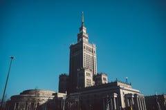 Sowjet Stalin-Palast der Kultur und der Wissenschaft in Warschau, Polen lizenzfreies stockfoto