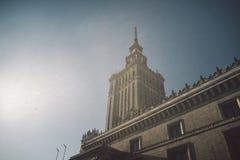 Sowjet Stalin-Palast der Kultur und der Wissenschaft in Warschau, Polen lizenzfreie stockfotos