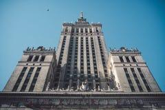 Sowjet Stalin-Palast der Kultur und der Wissenschaft in Warschau, Polen lizenzfreie stockbilder