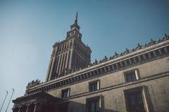 Sowjet Stalin-Palast der Kultur und der Wissenschaft in Warschau, Polen stockfotografie