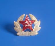 Sowjet-UDSSR-Stern und Lorbeerkranz stockbilder