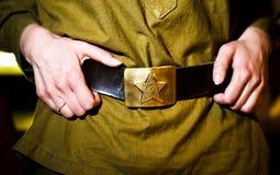 Sowjetische Armeemilitärhände Stockfotos