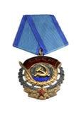 Sowjetische Bestellung der roten Fahne der Arbeit Lizenzfreie Stockfotos
