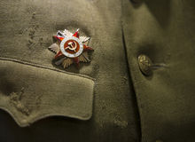 Sowjetische Bestellung des roten Sternes Stockfotografie