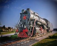 Sowjetische Lokomotive Lizenzfreies Stockfoto