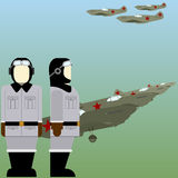 Sowjetische Piloten des zweiten Weltkriegs Stockfoto