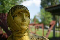 Sowjetische Skulptur stockbild