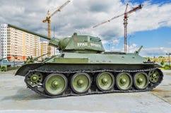 Sowjetischer Behälter T-34/76 - Ausstellung des Museums von Militär-equipm stockfotografie