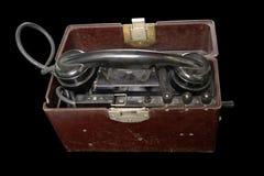 Sowjetischer beweglicher Telefonapparat Lizenzfreies Stockfoto