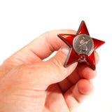 Sowjetischer Militärorden des roten Sternes Stockbild