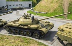 Sowjetischer mittlerer Behälter T-54 Stockfotos