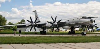 Sowjetischer Tupolev-Bomber Stockbilder
