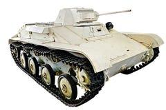 Sowjetischer weißer heller Behälter T-60 lokalisiert Lizenzfreie Stockfotos