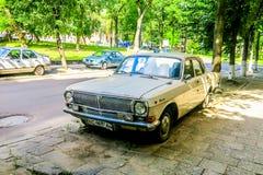 Sowjetisches Auto Lembergs stockfotografie