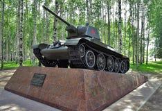 Sowjetisches Becken T-34-76 Stockfoto