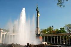 Sowjetisches Krieg-Denkmal in Wien Stockfotos