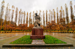 Sowjetisches Kriegs-Denkmal in Treptower-Park, Panorama Berlins, Deutschland Stockfoto