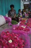 Sown flowers. Merchants selling flowers sown in Madiun, East Java, Indonesia Royalty Free Stock Photo