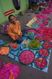 Sown flowers. Merchants selling flowers sown in Madiun, East Java, Indonesia Stock Photography