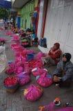 Sown flowers. Merchants selling flowers sown in Madiun, East Java, Indonesia Royalty Free Stock Image