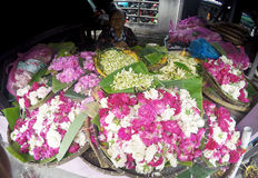 Sown flowers. Vendors selling flowers sown for the benefit of the grave pilgrimage in Sukoharjo, Central Java, Indonesia Stock Photography