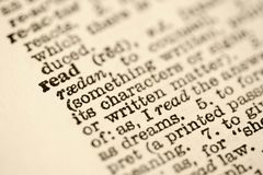 słownik wejścia przeczytać Obraz Stock