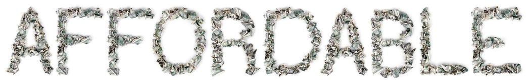 Niedrogi - Crimped 100$ rachunki Zdjęcie Stock