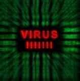 Słowo wirus Obrazy Royalty Free
