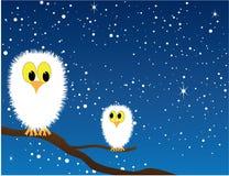 sowy śnieżne Ilustracja Wektor