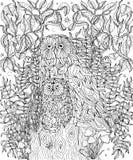 Sowy barwi stronę ilustracja wektor