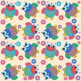 sowy bezszwowy deseniowy Obraz Stock