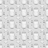 sowy bezszwowy deseniowy Zdjęcie Stock