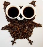 Sowy kawa Zdjęcie Royalty Free
