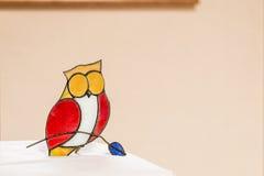 Sowy lala na biały teble Obraz Royalty Free