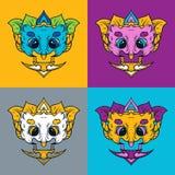Sowy maska Koszulka druk Obrazy Stock