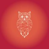 Sowy origami projekt Pomarańczowy koloru wektor z tłem Obrazy Stock