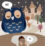 sowy woodchuck Ilustracji