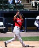 sox reddick pawtucket josh batter красный Стоковое Фото