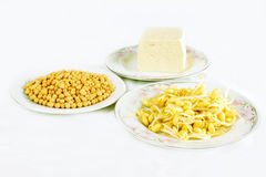 Soy bean sprouts and tofu Royalty Free Stock Photography