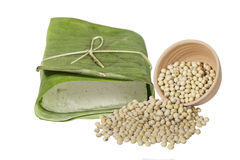 Soy bean and tofu Royalty Free Stock Images