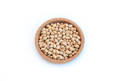 Soy beans in bowl Royalty Free Stock Image