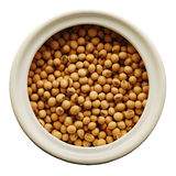 Soy beans in a ceramic jar Royalty Free Stock Photography