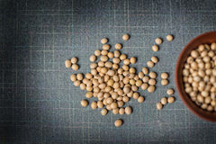Soy beans in a glass on table Stock Image