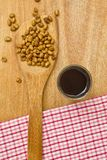 Soy beans and sauce Stock Photography
