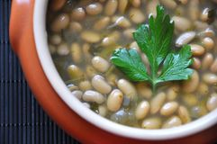 Soy beans soup stock photo