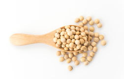 Soy beans. On white background Stock Photos